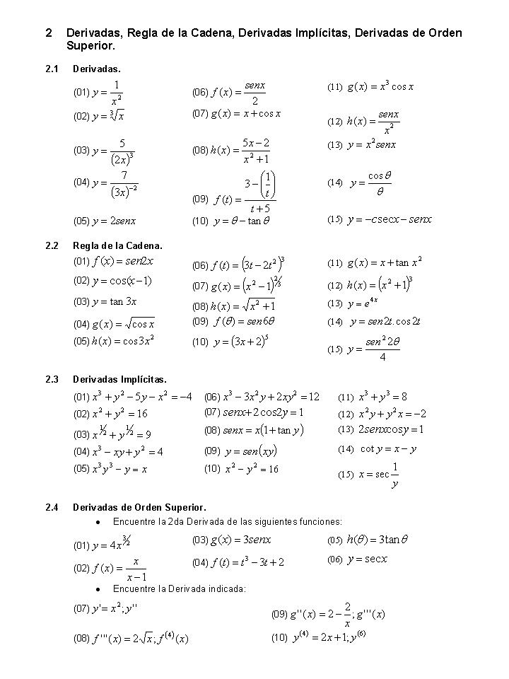 2da Guía de Matemática 1 (Ejercicios) | Blog de Luis Castellanos