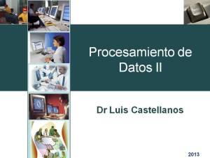 Procesamiento de Datos II - Luis Castellanos (Portada)