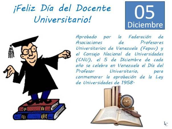 Feliz Día Del Profesor Universitario Blog De Luis Castellanos